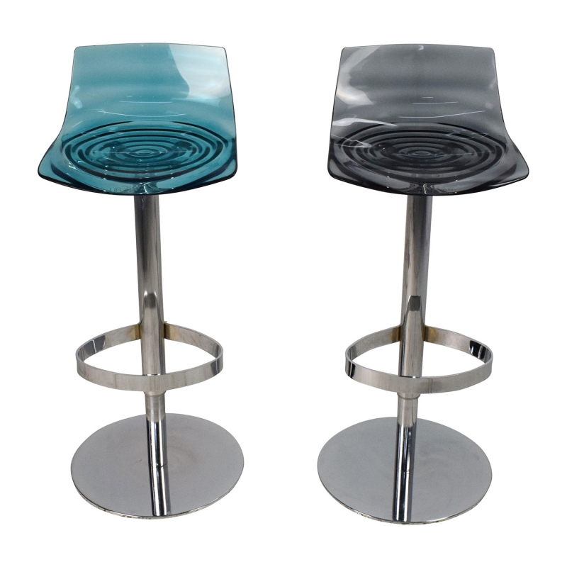 buy calligaris l eau adjustable swivel bar stool pair - Scaun pentru bar L'eau  CONNUBIA
