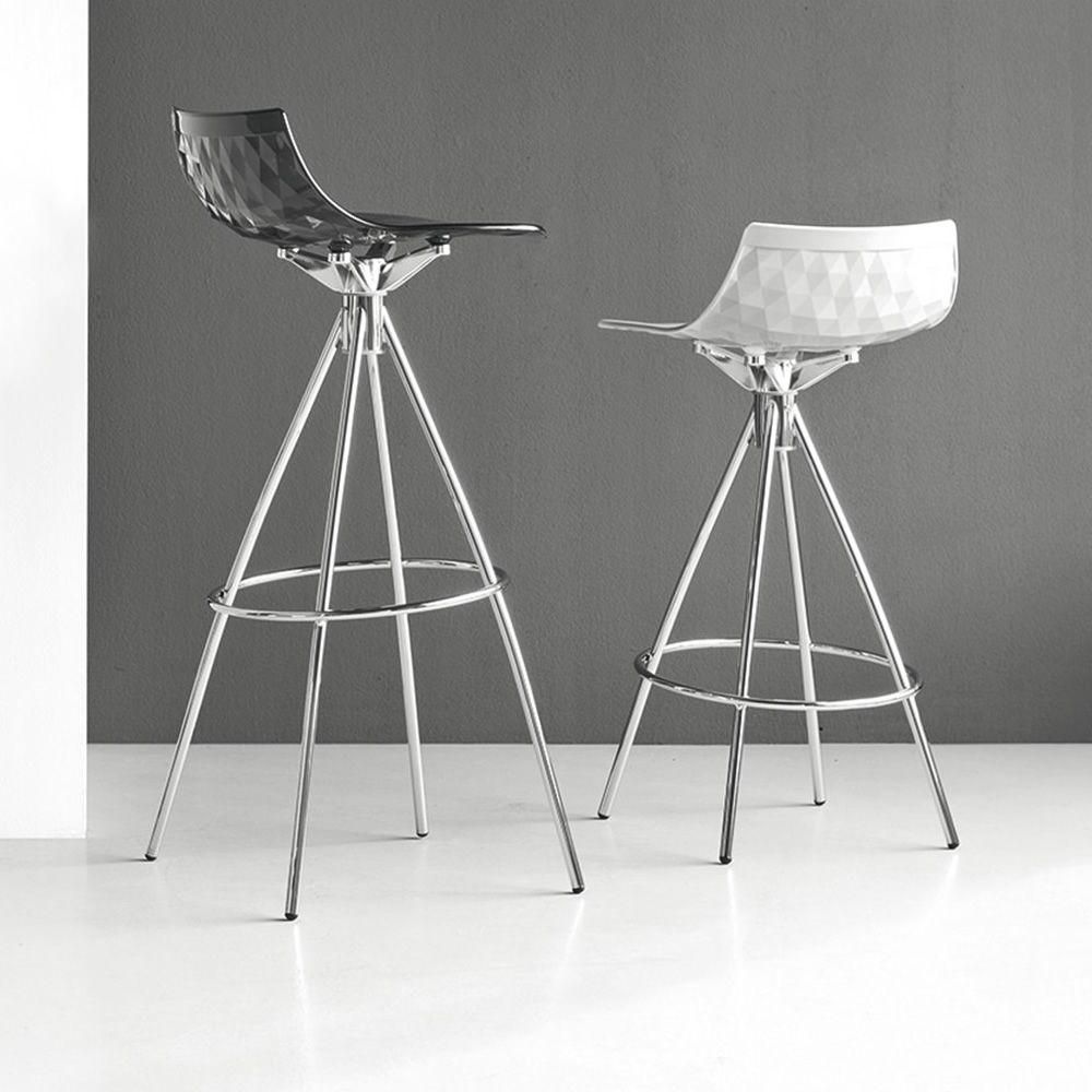 cb1049 ice stools made of chromed metal san seat - Scaun pentru bar Ice CONNUBIA