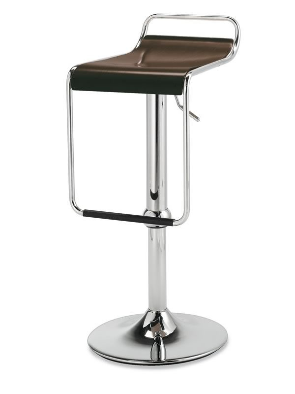 cb1343 superstar chromed metal stool beech multilayer seat in wenge finish - Scaun pentru bar Superstar CONNUBIA (CB/1343)