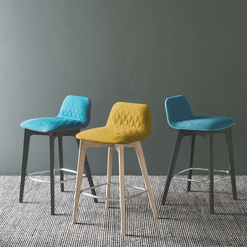 cb1488 sami wooden stools with fabric covering different colours available - Scaun pentru bar Sami CONNUBIA (CB/1488)