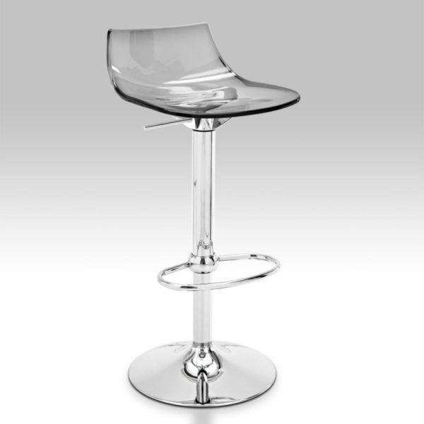 connubia led bar stool w 415 h 980 d 425 mm chrome transparent grey fume conn cb 1405 p77 p266 1a 600x600 - Scaun pentru bar Led CONNUBIA (CB/1405)
