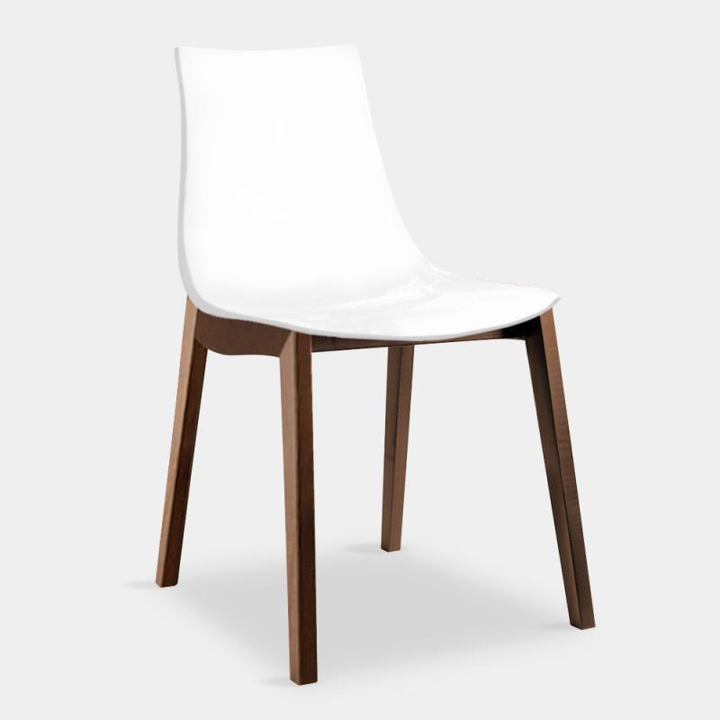connubia led w chair w 490 h 810 d 540 mm walnut snow white gloss conn cb 1507 p201 p799 1 - Scaun Led W CONNUBIA (CB/1507)