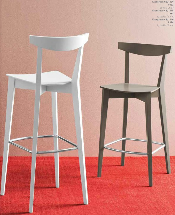 sgabello in legno evergreen di connubia calligaris 3 - Scaun pentru bar Evergreen CONNUBIA (CB/1140)