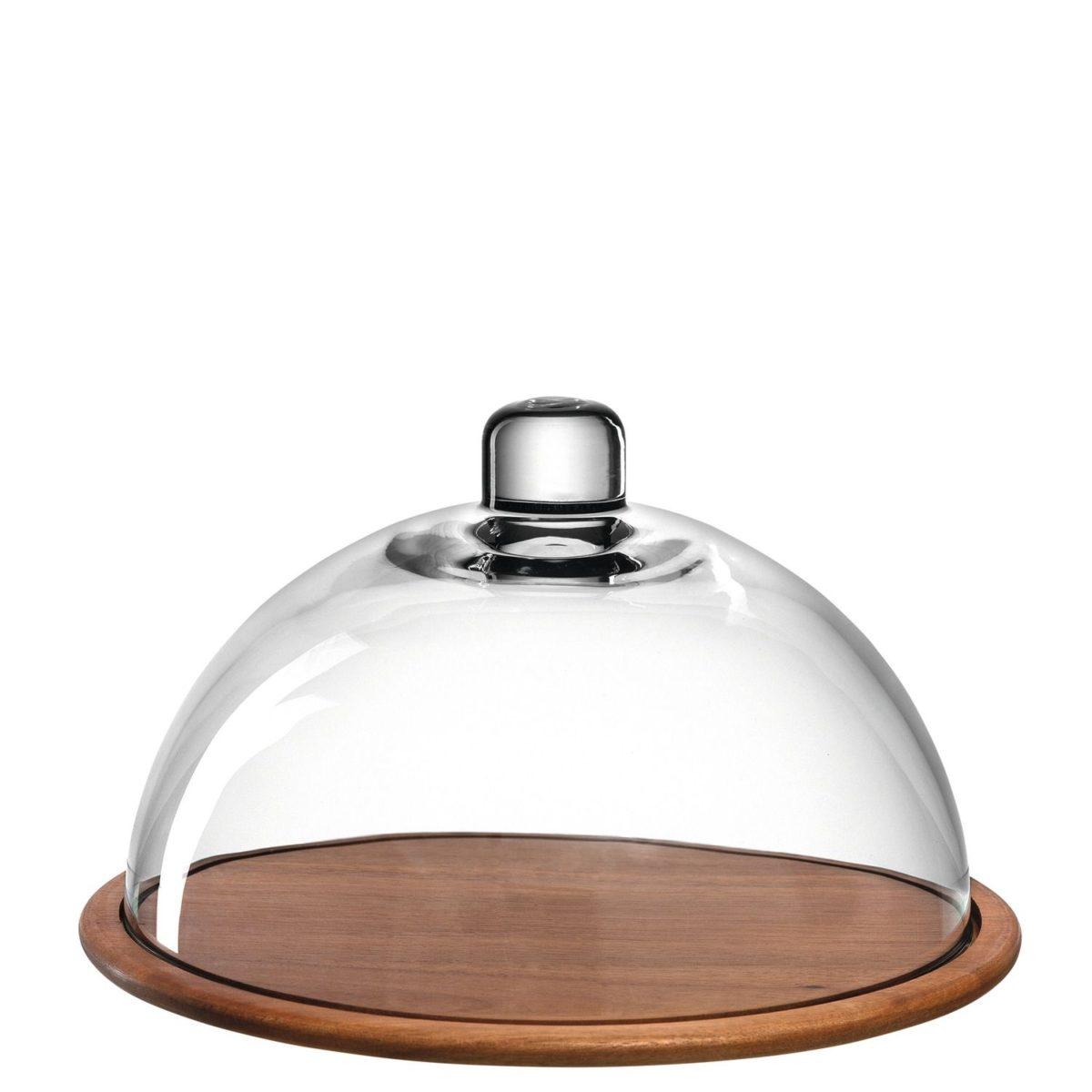 018519 0 k 1200x1200 - Platou pentru brânză din lemn / clopot de sticlă CUCINA (L018519)