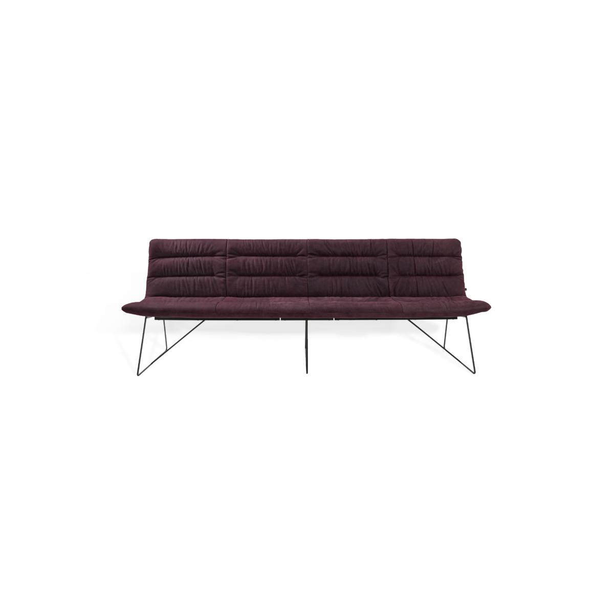 ARVA LIGHT BENCH 4er bench kuf oA pol violett KFF  3 1200x1200 - Bancheta Arva Light KFF