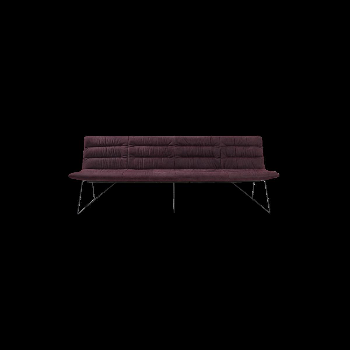 ARVA LIGHT BENCH 4er bench kuf oA pol violett KFF  4 1200x1200 - Bancheta Arva Light KFF