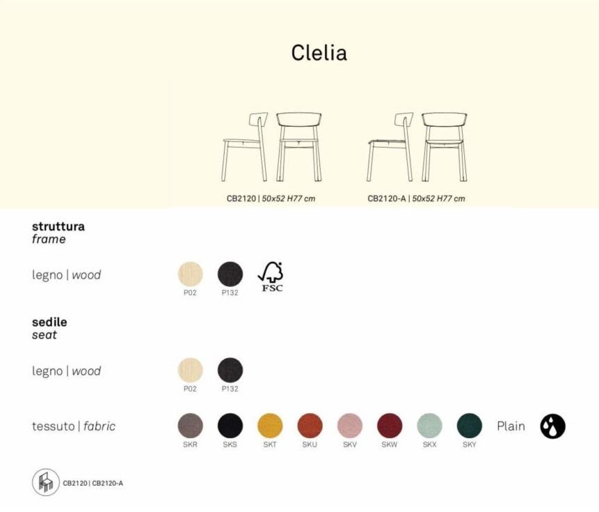 Connubia Clelia family 01 936x1024 1 - Scaun Clelia (CB/2120) CONNUBIA