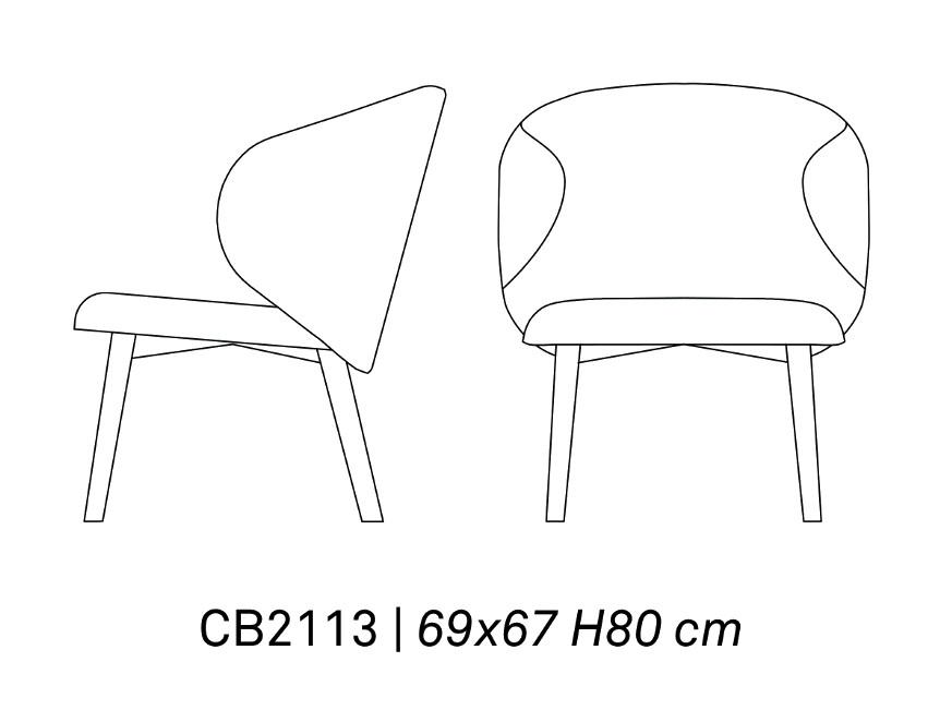 LOUNGE CB 2113 - Fotoliu Tuka CONNUBIA