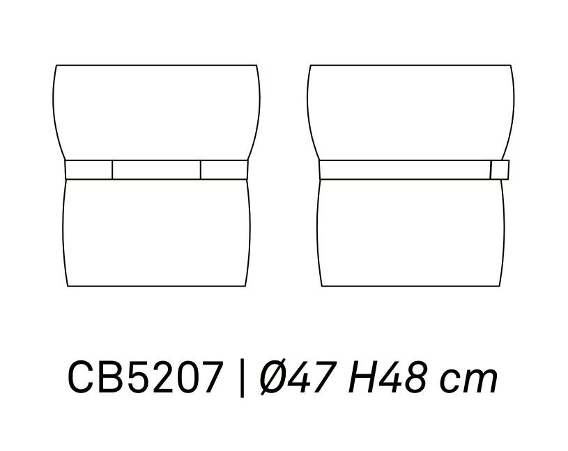 POF CB 5207 - Pouf Pof CONNUBIA (CB/5207)