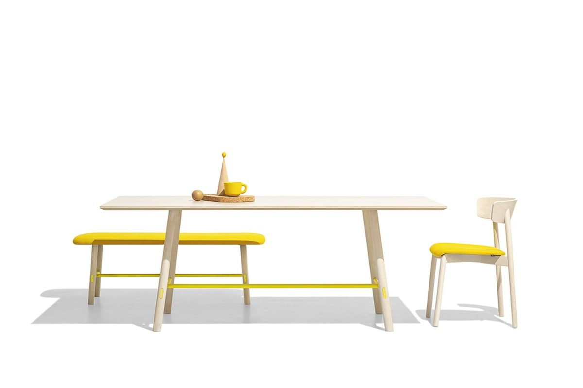 cb2120 clelia connubia chairs in combination with yo table and bench by connubia 1200x800 - Scaun Clelia (CB/2120) CONNUBIA