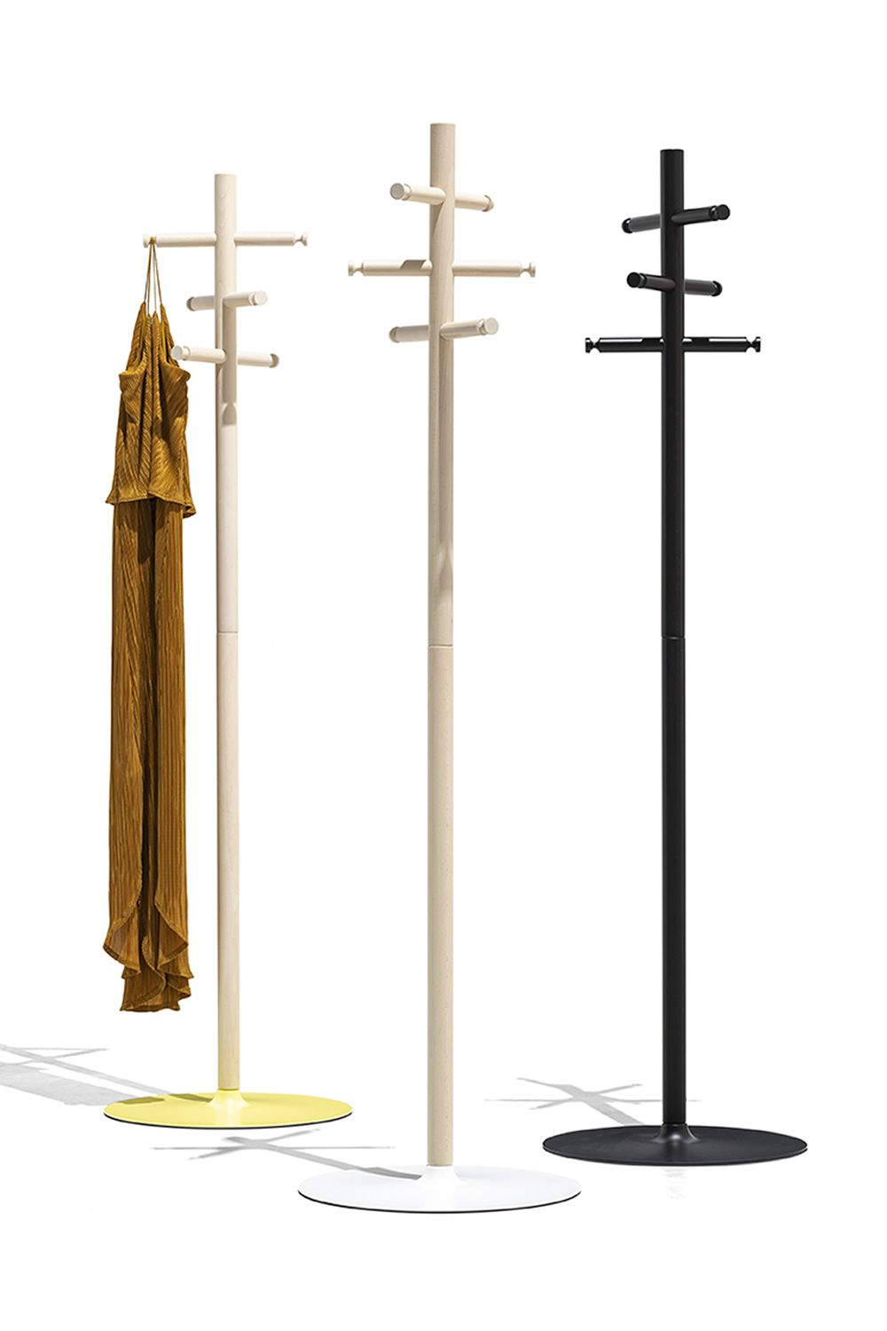cb5212 app connubia coat rack with metal structure and wooden hooks different colours available - Suport pentru haine App CONNUBIA (CB/5212)
