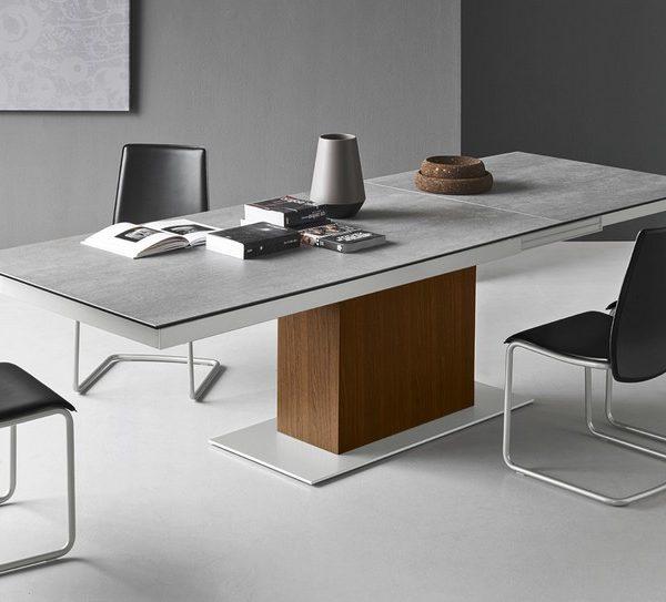 tavolo sincro di connubia by calligaris allungabile con piano in ceramica o vetro 600x543 - Principala