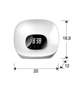 415801 1 - Ceas cu alarma Sunrise SCHULLER (415801)