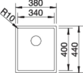 36933 - Chiuveta BLANCO, Claron-U