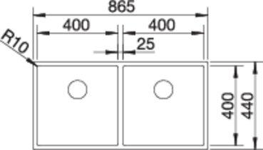 36944 - Chiuveta BLANCO, Claron-U ||
