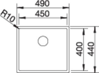 36963 - Chiuveta BLANCO, Claron-U