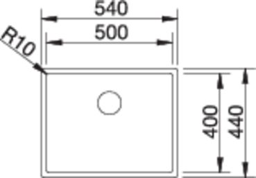 36976 - Chiuveta BLANCO, Claron-U