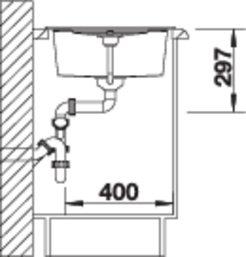 38285 - Chiuveta BLANCO, Metra 45 S (Compact)