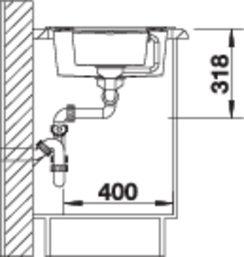 38323 - Chiuveta BLANCO, Metra 6 S
