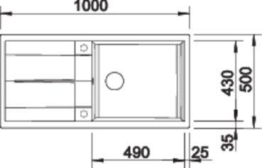 38361 - Chiuveta BLANCO, Metra XL 6 S