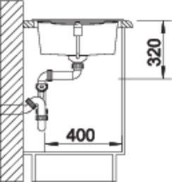 38364 - Chiuveta BLANCO, Metra XL 6 S
