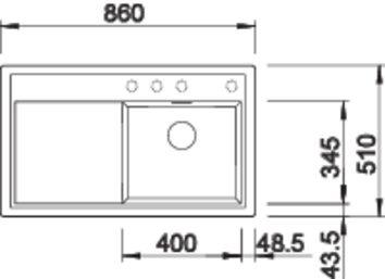 39961 - Chiuveta BLANCO, Zenar 45 S