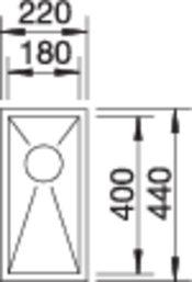 40008 - Chiuveta BLANCO, Zerox-U