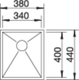 40048 - Chiuveta BLANCO, Zerox-U
