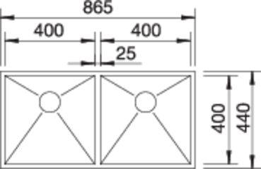 40061 1 - Chiuveta BLANCO, Zerox-U ||