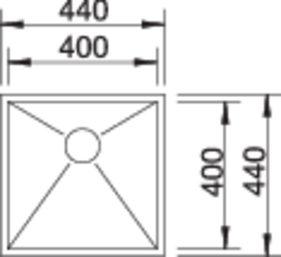 40090 - Chiuveta BLANCO, Zerox-U