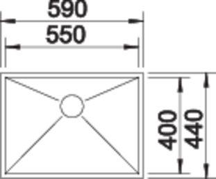40131 - Chiuveta BLANCO, Zerox-U