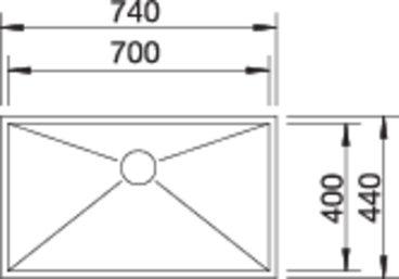 40184 - Chiuveta BLANCO, Zerox-U