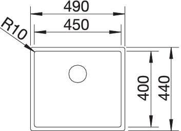 450 - Chiuveta BLANCO, Claron-IF