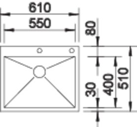 550 if a 1 - Chiuveta BLANCO, Zerox-IF/A