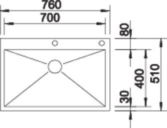 700 if a - Chiuveta BLANCO, Zerox-IF/A