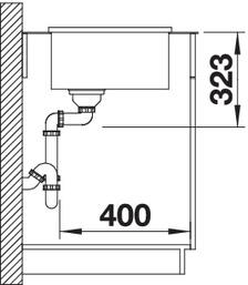 Attica XL 60 2 - Chiuveta BLANCO, Attika XL 60