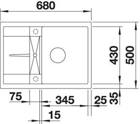 met45scom g4 - Chiuveta BLANCO, Metra 45 S (Compact)