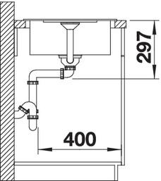 met45scom gs - Chiuveta BLANCO, Metra 45 S (Compact)