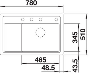 zenarxl6sc g4 - Chiuveta BLANCO, Zenar XL 6 S Compact
