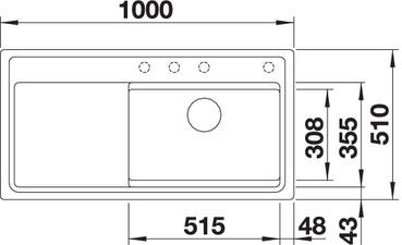 zenarxl6sdgp g4 - Chiuveta BLANCO, Zenar XL 6 S, SteamerPlus
