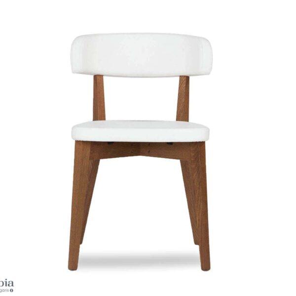 117928 4 white faux leather dining chair siren front view 600x600 - Scaun Siren CONNUBIA (CB/1536)