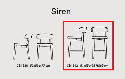 6 - Scaun pentru bar Siren CONNUBIA (CB/1542)