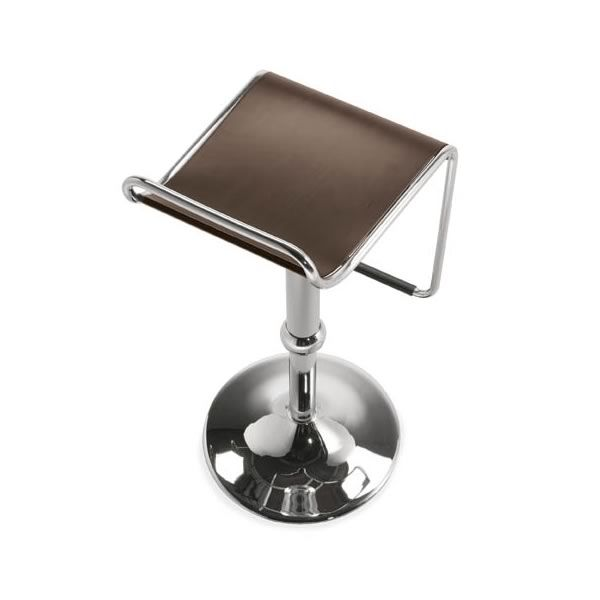 cb1343 superstar outlet chromed metal stool beech multilayer seat in wenge finish 1 - Scaun pentru bar Superstar CONNUBIA (CB/1343)