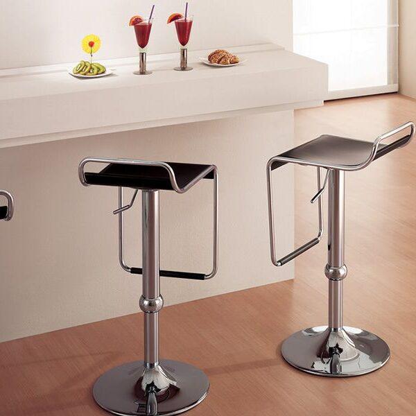 cb1343 superstar outlet chromed metal stool beech multilayer seat in wenge finish 600x600 - Scaun pentru bar Superstar CONNUBIA (CB/1343)
