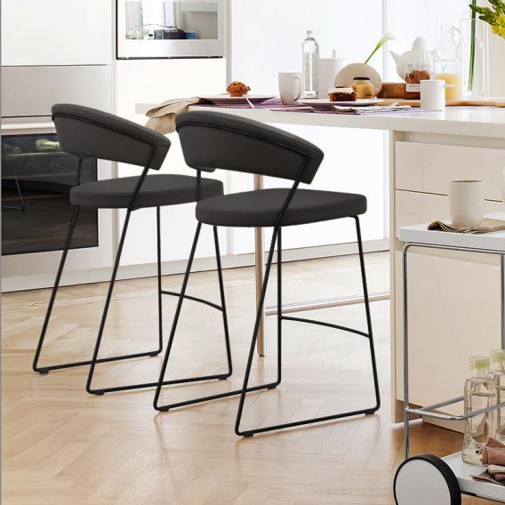 connubia new york bar stool w 570 h 910 d 550 mm matt black chrome ash conn cb 1087 v p15 s0w 0 - Scaun pentru bar New York CONNUBIA ( CB/1087 )