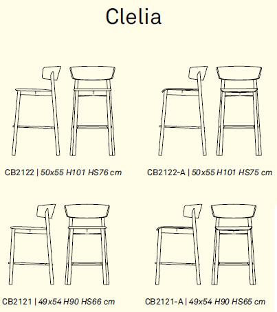 clelia 1 - Scaun pentru bar Clelia (Connubia)