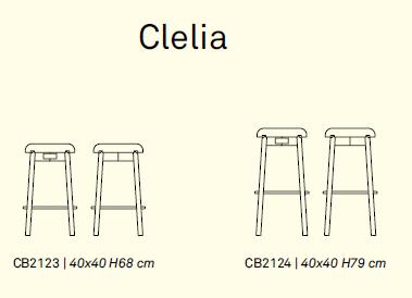 clelia 4 - Scaun pentru bar Clelia CONNUBIA